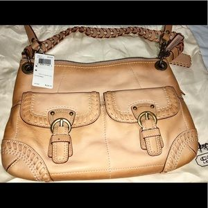 Coach tan purse bag
